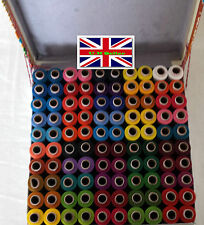 POLYESTER SEWING MACHINE HAND STITCHING Thread COLOR 100 REELS X 300 MTR 1 Box