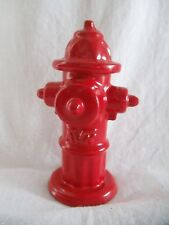 "Vintage AVK Cast Iron Salesman Sample 4 1/2"" Red Mini Fire Hydrant Fireman Decor"