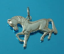 925 Sterling Silver Horse Pendant Charm for Chain Necklace Jewellery