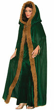 Señoras Cabo Verde-Fancy Dress Costume-Bruja Bruja Del Gandalf Cosplay Capucha