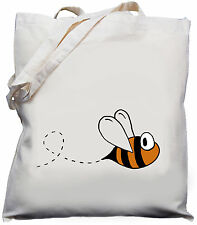 Honey Bee cute Gift  Natural Cotton Shoulder Bag 100% Cotton Tote Bag