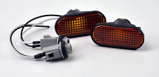Honda Civic S2000 Integra JDM Side Marker Repeater Lights Amber Black Fender