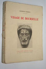 VISAGE DE BOURDELLE par SANDOR KEMERI ARMAND COLIN 1931 ILLUSTRATIONS