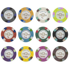 New Bulk Lot of 300 Monaco Club 13.5g Clay Casino Poker Chips - Pick Chips!