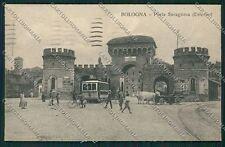 Bologna città Porta Saragozza Tram cartolina QQ8982