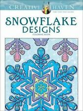 SNOWFLAKE DESIGNS -  Adult Coloring Book from Dover Publications-FREE SHIPPING