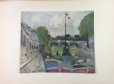 "1953 Vintage Full Color Art Plate ""PONT NEUF"" by MAURICE UTRILLO Lithograph"