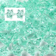 """12MM AQUA GLASS MERKABAH BEADS - 15.5"""" ST"""