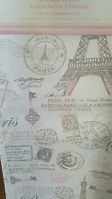 2 Nicole Miller Paris Panels Pink Eiffel Tower Window Curtains Drapes Grey 63