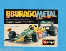 TOP990-PUBBLICITA'/ADVERTISING-1990- BURAGO - BENETTON FORD 1/24
