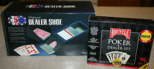 NEW Excalibur Dealer Shoe and Used Bicycle Poker Dealer Set Casino Chips Cards