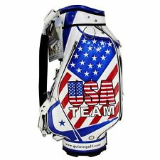 "NEW GUIOTE GOLF PREMIUM CADDIE STAFF CART BAG TEAM USA 10"" TOP w/RAINHOOD"