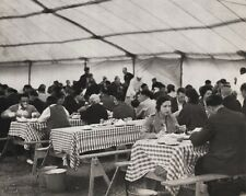 1940's Vintage 11x14 CIRCUS CARNIVAL Crowd Eating Food Cafe Tent Ringling Photo