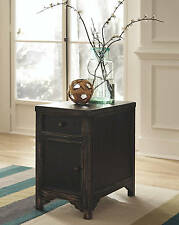 "Ashley Furniture T732-7 Gavelston Chair Side End Table Black 14""W x 24""D x 24""H"