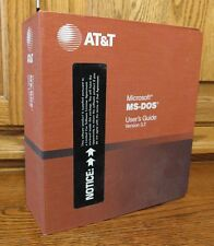 AT&T Microsoft MS-DOS v 3.2 OS User's Guide Manual