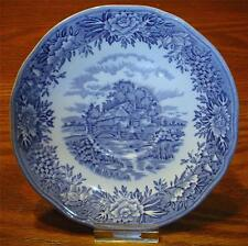 "VINTAGE '60's SALEM CHINA CO. ""ENGLISH VILLAGE"" PATTERN SAUCER MADE IN ENGLAND"