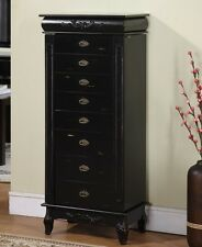 Nathan Morris 8 Drawer Jewelry Armoire- J1006ARM-L-BLK Jewelry Armoire NEW
