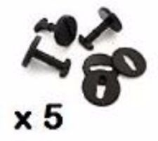 5 x BMW Floor Carpet Mat Clips E36 E46 E38 E39 Series Twist Lock with Washers