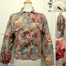 MY BOYFRIENDS BACK Santa Monica CA Jacket M Oversized Dolman Tapestry Floral