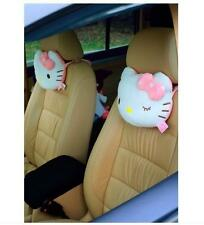 2x Cute Hello Kitty Seat Head/Neck Rest Cushion Pillows Auto Car Accessories