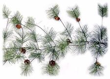 Artificial Smokey Pine Garland w/Pine Cones Christmas Decor 9 ft NEW XG89228GA9