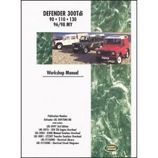 Land Rover Defender Diesel 300Tdi Workshop Manual 1996-1998 MY book paper