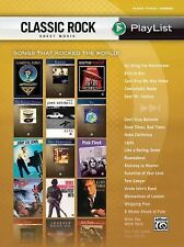 Classic Rock Sheet Music Play List Book For Piano Vocal And Chords, Hal Leonard