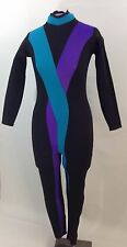 Henderson Women's Size Small 6 3mm Wetsuit Black With Blue & Purple Stripes Full