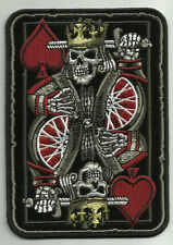 SUICIDE KING DEATH SKULL PLAYING CARD MOTORCYCLE JACKET VEST BIKER PATCH