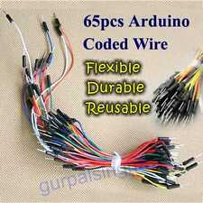 65 Pcs Solderless Flexible Breadboard Jumper Leads Cable Male Arduino Wires DIY