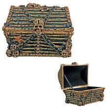 PIRATE DAVY JONES GHOST SHIP HAUNTED SKULL SKELETON TREASURE CHEST JEWELRY BOX