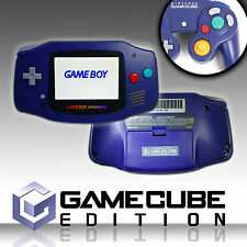 Backlit Nintendo GBA Game boy Advance Custom Backlight - Indigo ags 101 GameCube