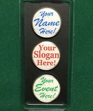 Personalized Color Golf Ball Markers - Set of 3