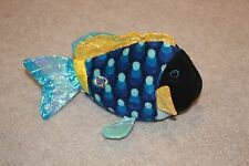 Ganz Lil' Kinz Webkinz Plush Stuffed Blue Triggerfish HS 526 Fish Sea Ocean Dory