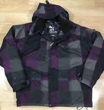 Liquid Coat Women's Size Large Purple Gray And Black