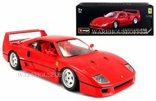 BBURAGO 1:18 ORIGINAL SERIES FERRARI F40 DIECAST CAR MODEL RED 18-16601RD