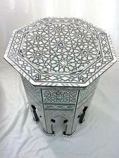 W77 MOP Moroccan Corner Wood Table Arabesque End Coffee