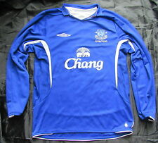 EVERTON FC home LONG SLEEVE  shirt jersey UMBRO 2008-2009 The Toffees men SIZE M
