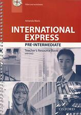 Oxford INTERNATIONAL EXPRESS 3rd Ed Pre-Intermediate TEACHER'S Book w DVD @New@