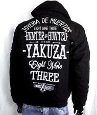 YAKUZA INK HUNTER AND HUNTED JACKE M SCHWARZ DICK HOODIE WINTERJACKE WJB 9044