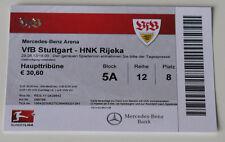 Ticket for collectors EL VfB Stuttgart HNK Rijeka 2013 Germany Croatia