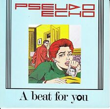 "PSEUDO ECHO A Beat For You PICTURE SLEEVE 7"" 45 record + juke box title strip"