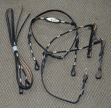 Full Size Western Show Leather Bridle Set (Black)