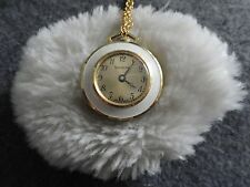 Pretty Swiss Made Lucerne Wind Up Necklace Pendant Watch