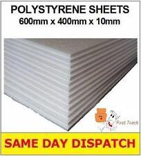 5 X Forte eccellente qualità POLISTIROLO EPS schiuma imballaggio fogli 600x400x10mm