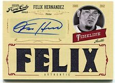 2012 FELIX HERNANDEZ Playoff Prime Cuts 5x Game Worn SIGNATURE AUTOGRAPH #06/10
