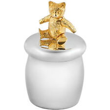 Fée des dents boîte avec plaqué or moving teddy bear argent 925 de ari d norman