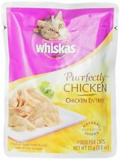 Whiskas Purrfectly Chicken in Natural Juices Food for Cats, 3-Ounce Pouches (Pac