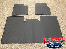 09 10 Ford F-150 F150 OEM Black Rubber Floor Mat Set 3pc Crew Cab w/o Sub Woofer
