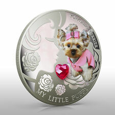 Fiji 2013 My Little Puppy YORKSHIRE TERRIER Dogs & Cats 1 Oz Proof Silver Coin